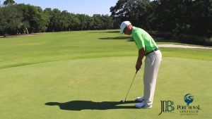 Golf Tip Tuesday at Port Royal Golf Club using proper Lag Putting Technique